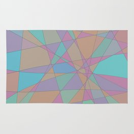 Shattered - Abstract Line Art Rug