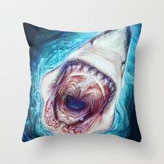 Wild Shark Throw Pillow