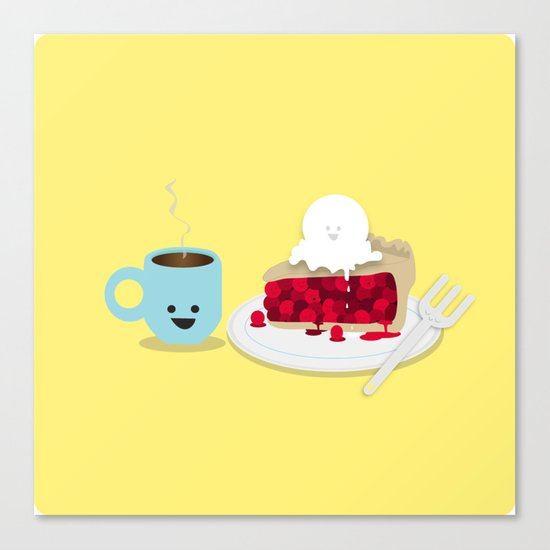 Coffee and Pie Canvas Print