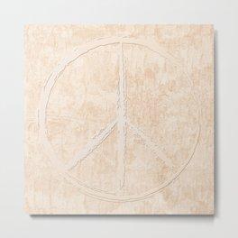 Peace in peach Metal Print