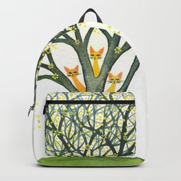 Odessa Whimsical Cats in Tree Backpack
