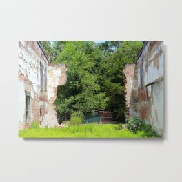 Decaying Brick Building Metal Print