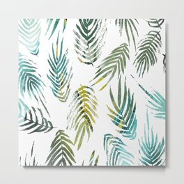Tropic of Conversation Botanical Print Metal Print