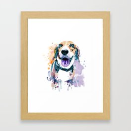 Sweet Beagle Framed Art Print