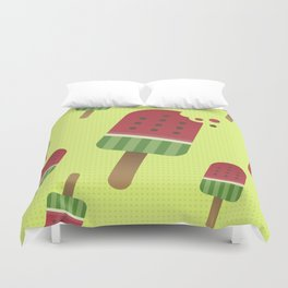 Watermelon Ice Pop Duvet Cover