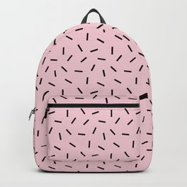 Postmodern Funfetti in Pink + Black Backpack