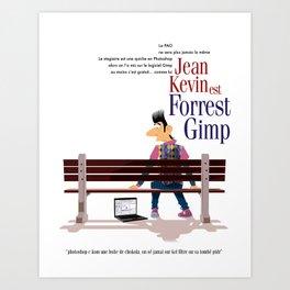 Forrest Gimp Art Print