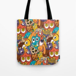 Weird Guys Pattern Tote Bag