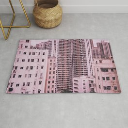 Hong Kong Pink City Rug