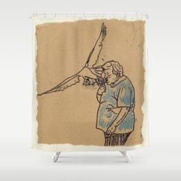 Greedy Guts Shower Curtain