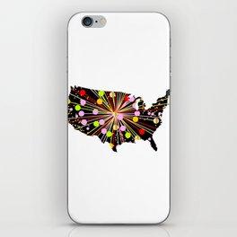 United States Map Celebration iPhone Skin