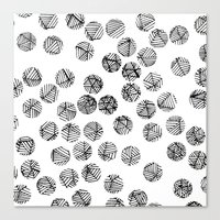 polka dots Canvas Prints featuring Polka Dots by Take F1ve