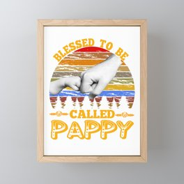 Vintage Mens Blessed to be called Pappy shirt Father'd day gift Framed Mini Art Print