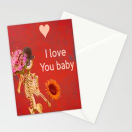 I love you baby (Monsieur Bone ) Stationery Cards