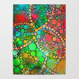 Colorful Bubble Pattern Abstract Poster