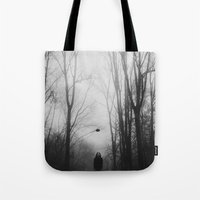 hat Tote Bags featuring hat by MartaSyrko