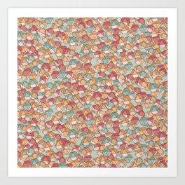 Colored polyhedra Art Print