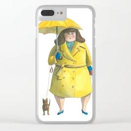 Glória e Mimi chic à chuva - Gloria and Mimi chic under the rain Clear iPhone Case