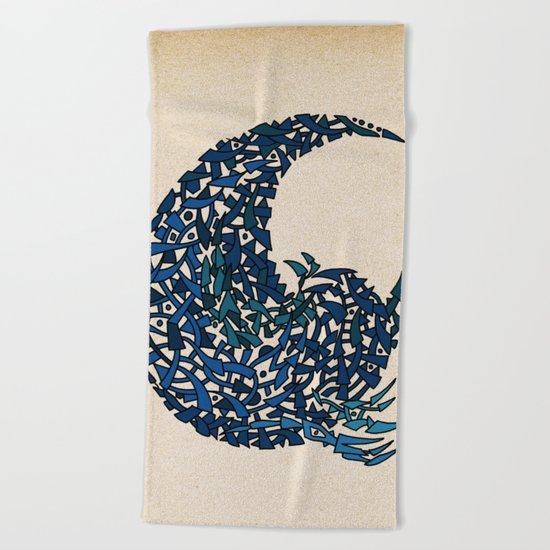 - 15 wave - Beach Towel