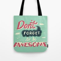 risa rodil Tote Bags featuring DFTBA by Risa Rodil