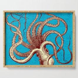 Vintage Octopus Music Sheet Serving Tray