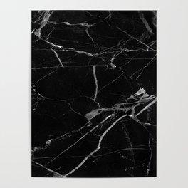 modern black marble look Poster