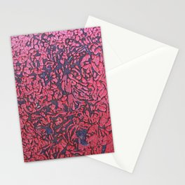 Rusted Red Wall Stationery Cards