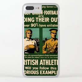 British rugby, football players call for duty Clear iPhone Case