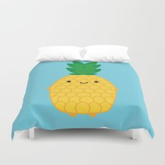 Kawaii Pineapple Duvet Cover