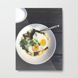 Eggs on Top Metal Print
