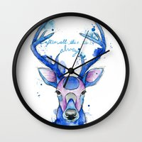 harry potter Wall Clocks featuring Always. Harry Potter patronus. by Simona Borstnar