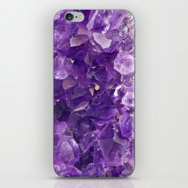 Amethyst Crystal iPhone Skin