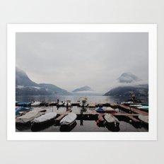Boat Docks Art Print