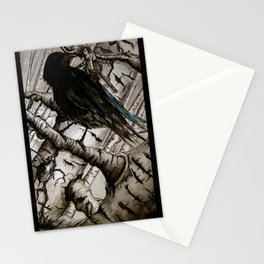 the raven girl Stationery Cards