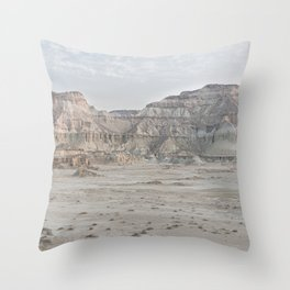 Statue valley | Canyon in Iran | Color landscape photography Throw Pillow