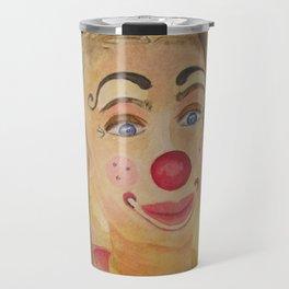 Ficelle à l'aquarelle, clown Travel Mug