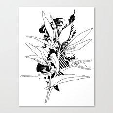 eye & leaf Canvas Print
