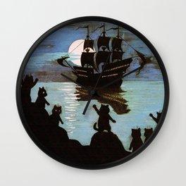 Cats & A Ship - Louis Wain Wall Clock