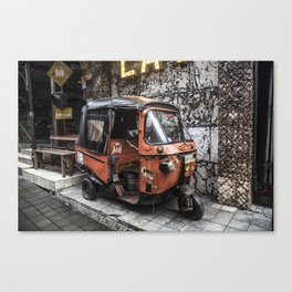 ORANGE TUK TUK Canvas Print
