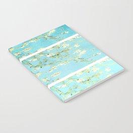 Vincent Van Gogh Almond Blossoms  Panel arT Aqua Seafoam Notebook