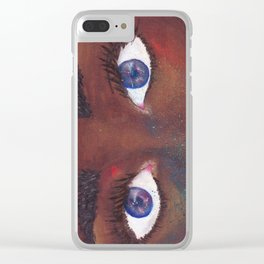 She Sees Through Universes Clear iPhone Case