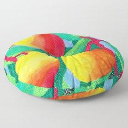 summer peaches Floor Pillow