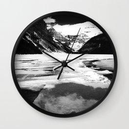 Lake Louise Victoria Glacier Alberta Canada Wall Clock