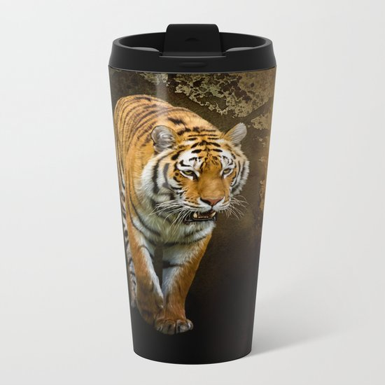 Siberian tiger Metal Travel Mug