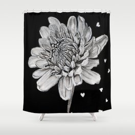 A Flower with lots of feelings Shower Curtain