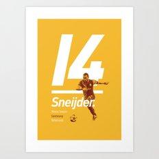 Sneijder Galatasaray Art Print
