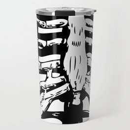 Skeleton Ribs   Skeletons   Rib Cage   Human Anatomy   Black and White   Travel Mug