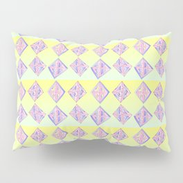 square abstraction-mutlicolor,abstraction,abstract,fun,rectangle,square,rectangled,geometric,geometr Pillow Sham