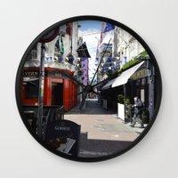 dublin Wall Clocks featuring Dublin Streets by Ashley Callan