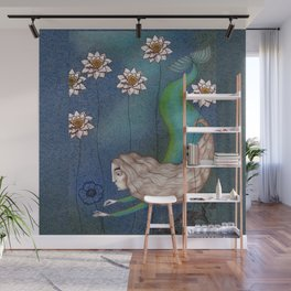 The Mermaid's Lake--Finding the Blue Flower Wall Mural
